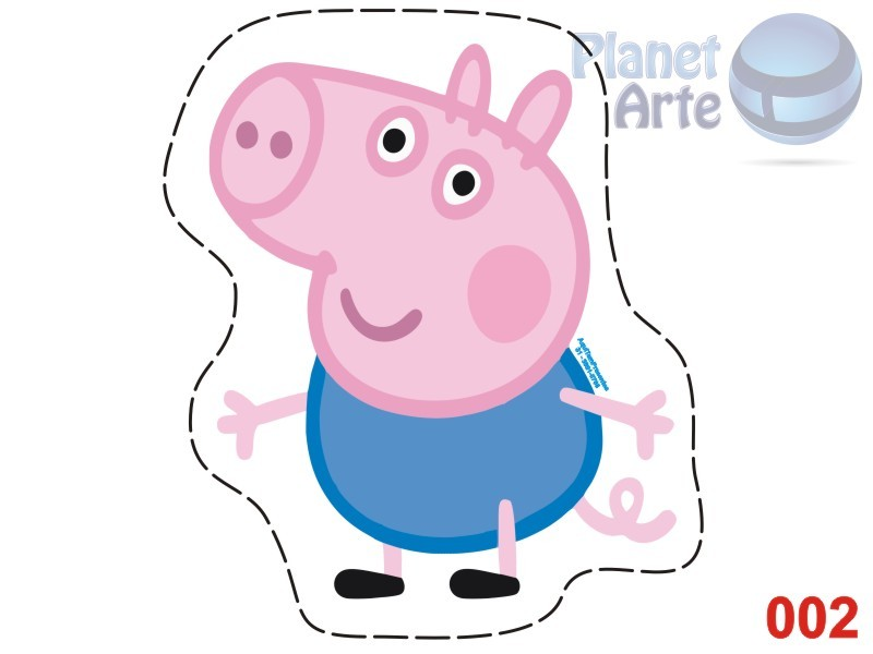 Kit de 10 Almofadas Recortada Personalizada Cute Peppa e George Pig