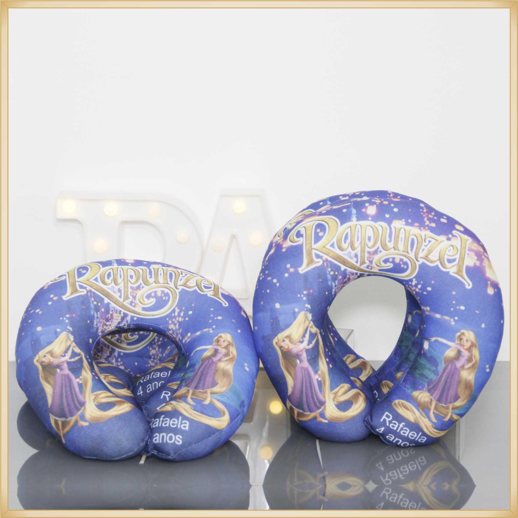 Almofadas apoio de pescoço Travesseiro para viagem Personalizada para Lembrancinha de Aniversário infantil Brindes para criança - Kit com 10 unidades