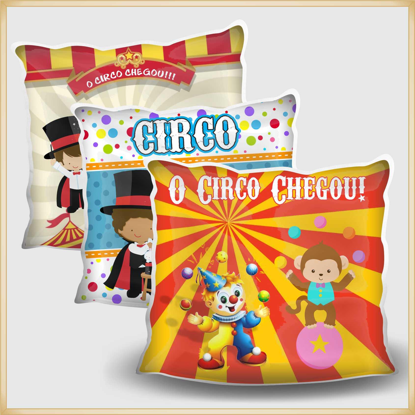 Almofadas Coloridas Infantil Personalizadas Lembrancinhas para festa Aniversário Brinde para Crianças - Kit com 10 unidades