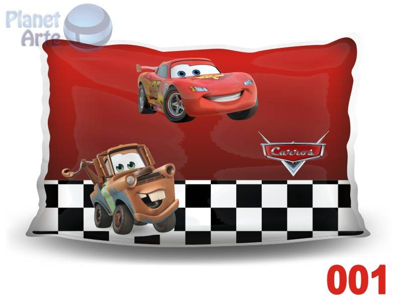 Kit de 10 Almofadas Coloridas Personalizadas Carros Disney