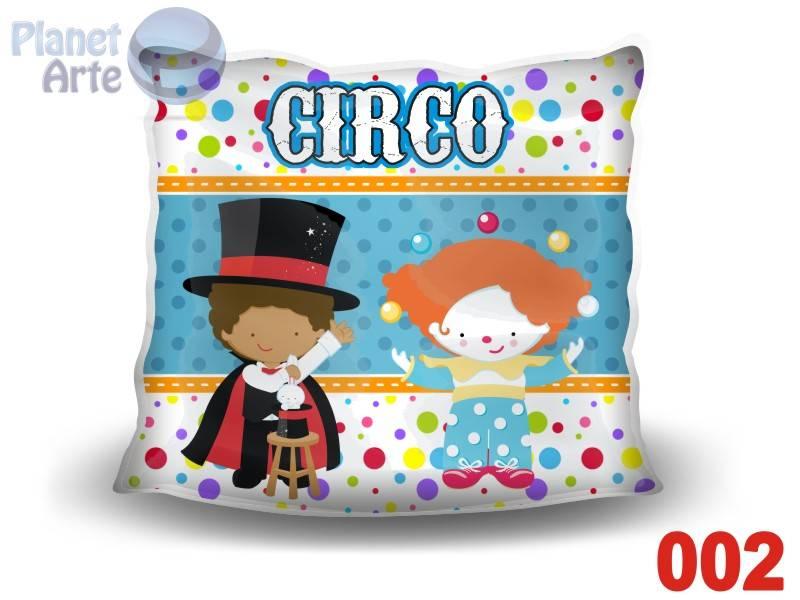 Kit de 10 Almofadas Coloridas Personalizadas Circo