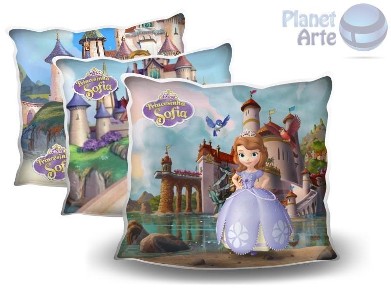 Kit de 10 Almofadas Coloridas Personalizadas Princesa Sofia