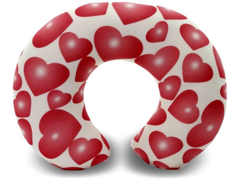 Almofadas de Pescoço Travesseiro para Viagem Amor Corações