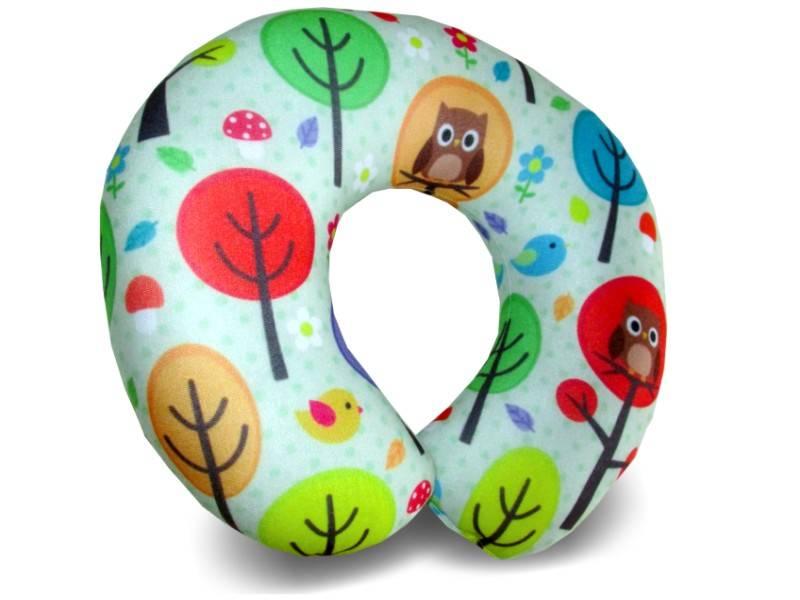 Almofadas de Pescoço Travesseiro para Viagem Coruja Bolinha