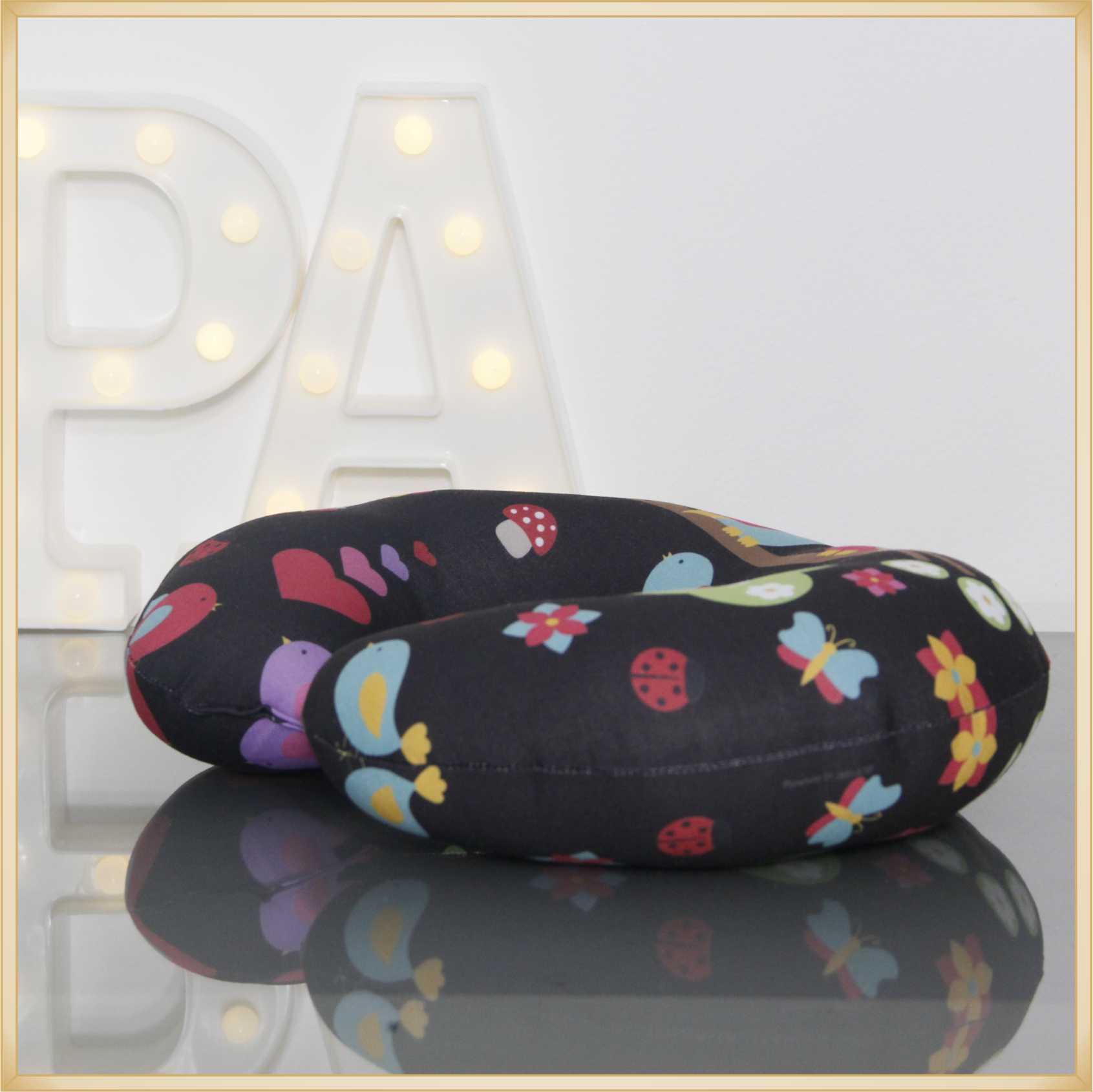 Almofadas de Pescoço Travesseiro para Viagem Corujinha Amor