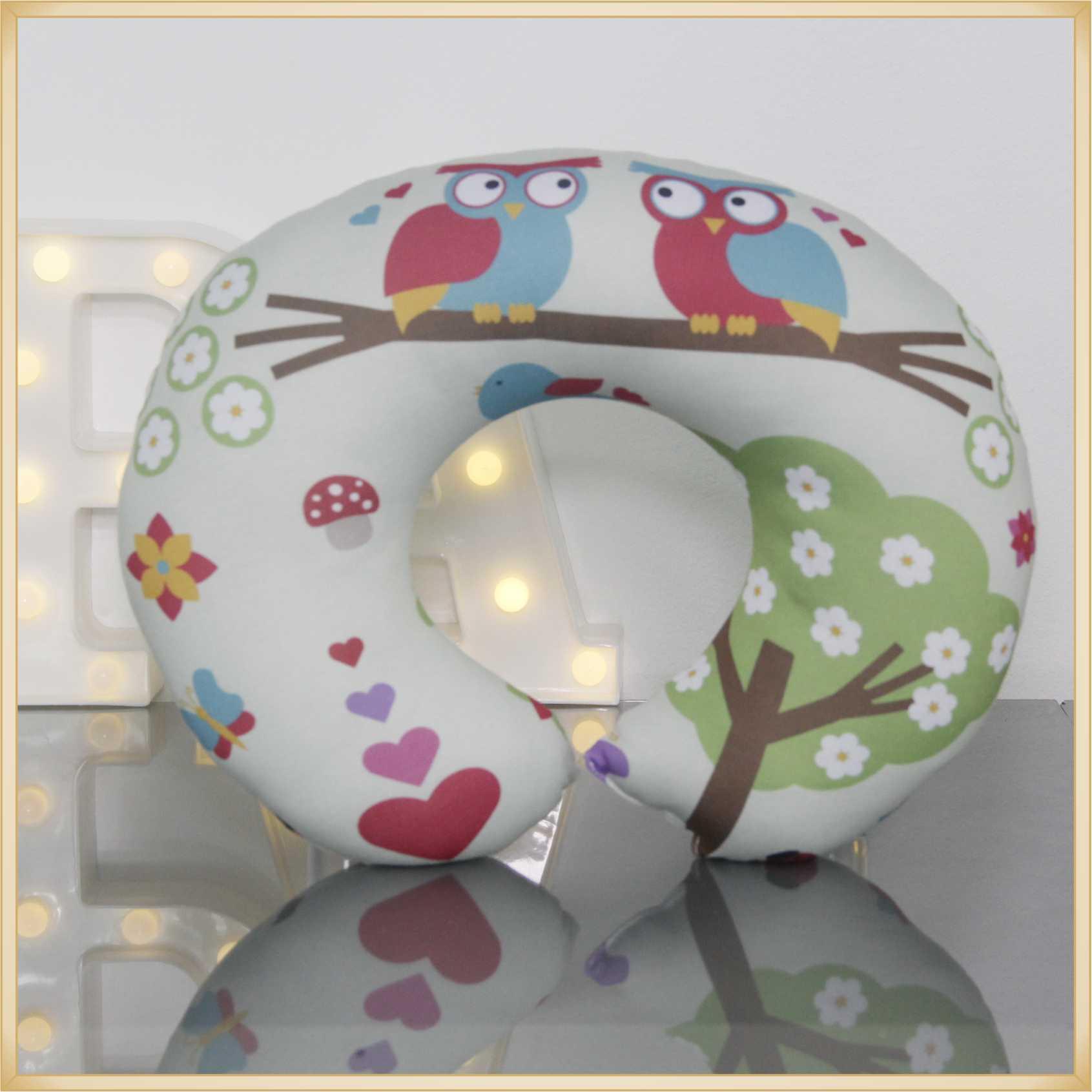 Almofadas de Pescoço Travesseiro para Viagem Corujinha Love