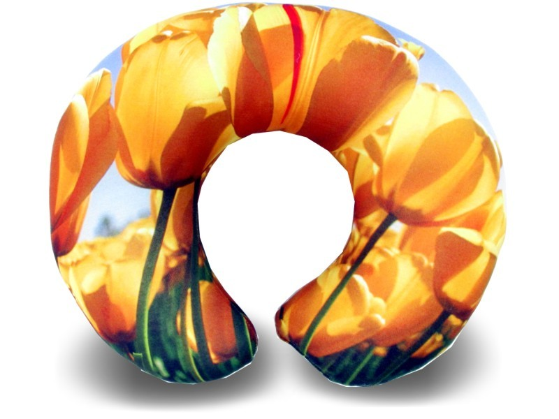 Almofadas de Pescoço Travesseiro para Viagem Flor Amarela