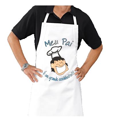 Avental Personalizado de Churrasco meu Pai grande Cozinheiro