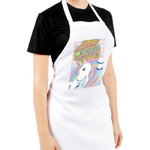 Avental Personalizado de Cozinha Churrasco Unicórnio