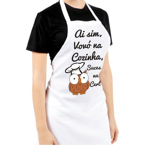 Avental Personalizado Vovó na Cozinha