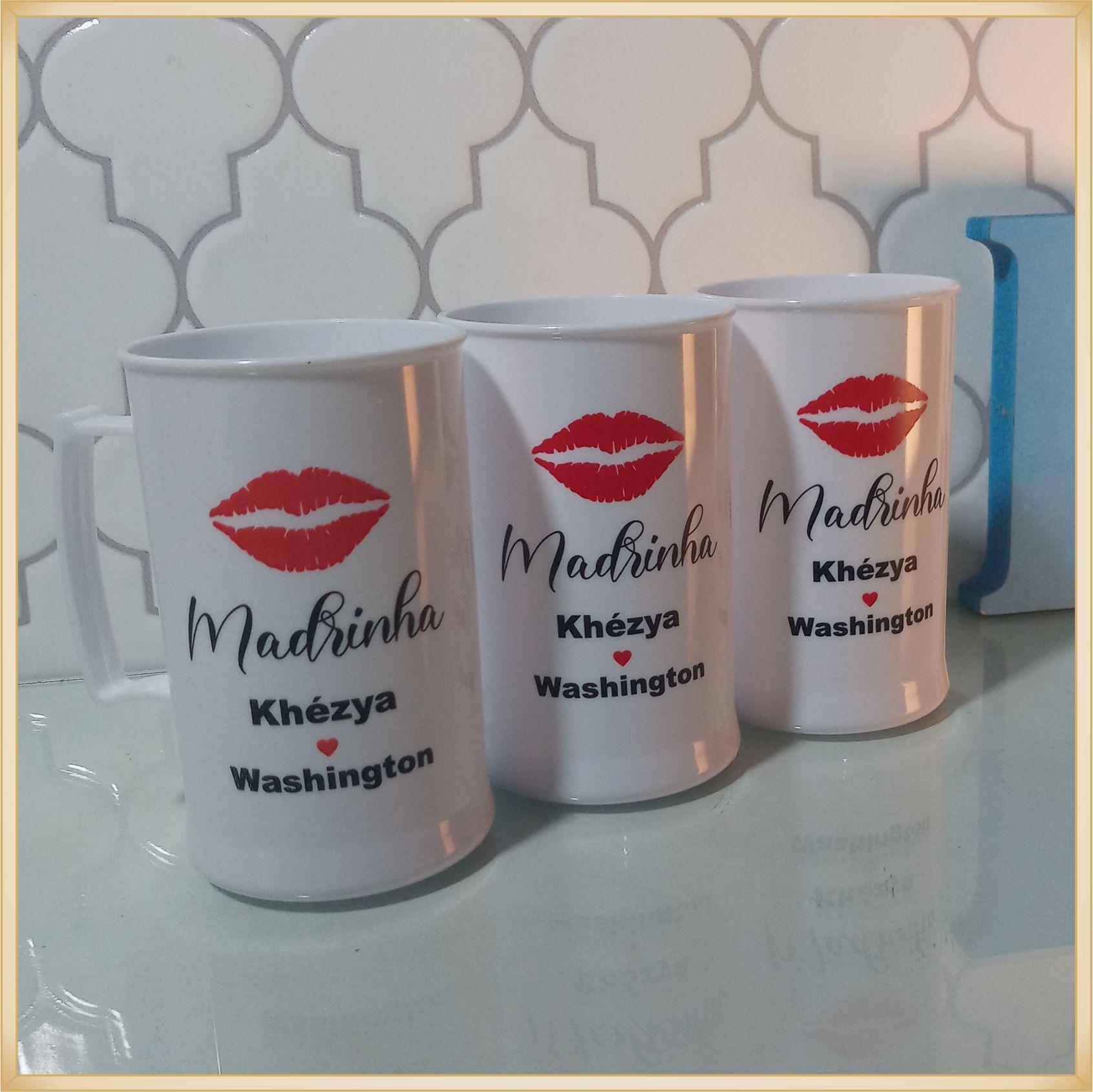 Caneca de acrílico personalizada de Casamento - alta qualidade, acabamento perfeito, parede de 2,5 mm, material atóxico, 300 ml
