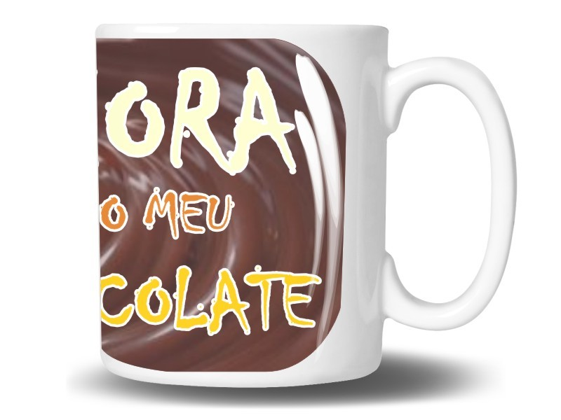 Caneca de Porcelana Personalizada Hora do Chocolate