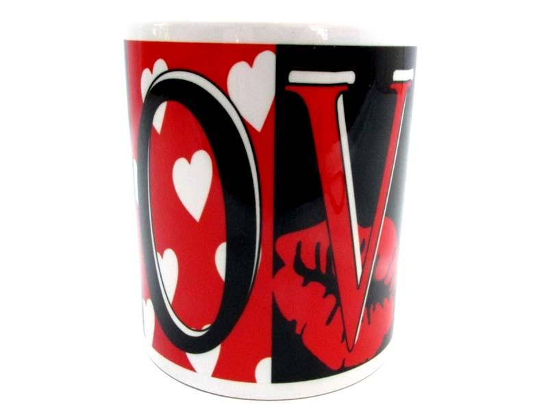 Caneca de Porcelana Personalizada Namorados LOVE