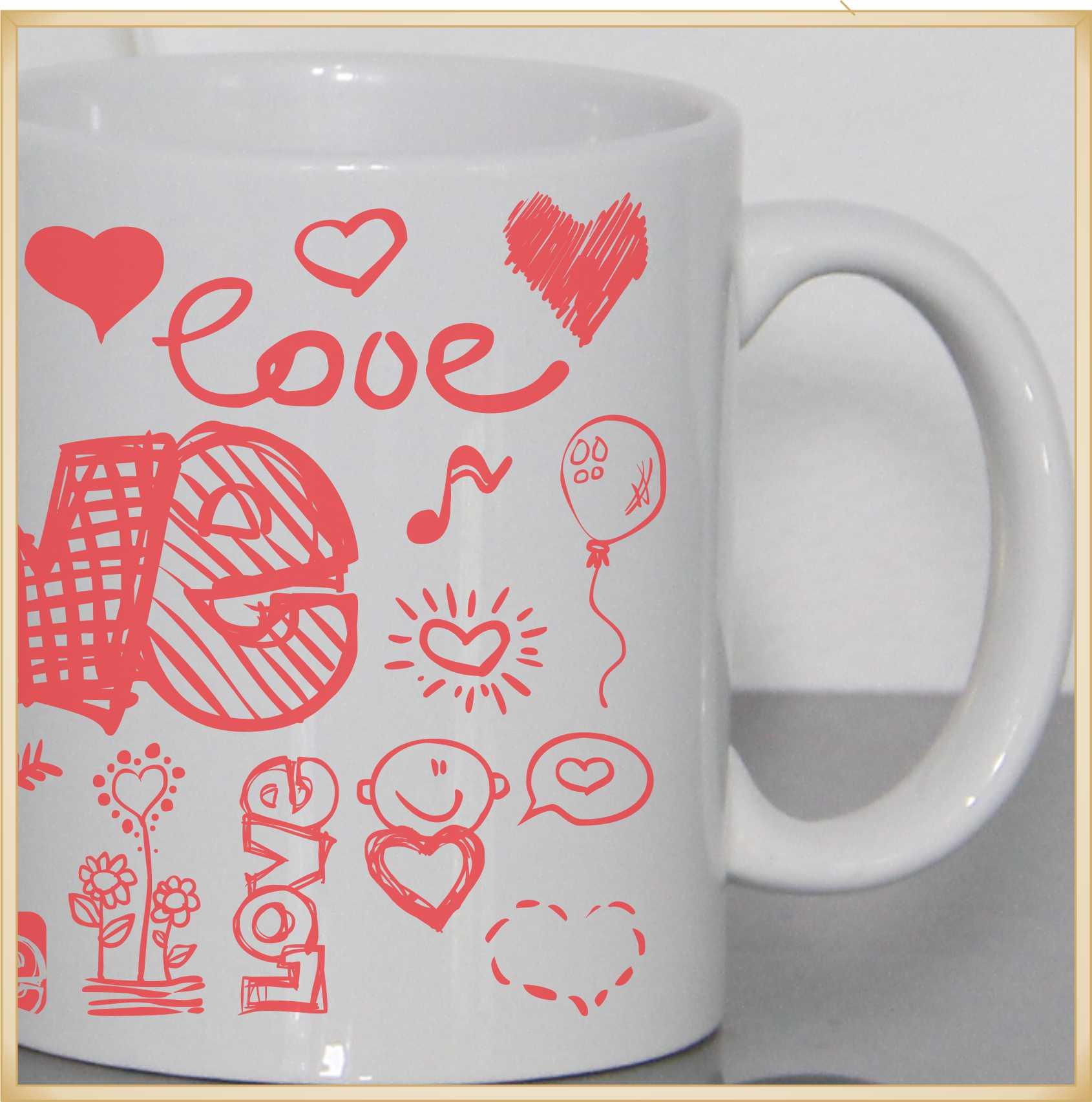 Caneca personalizada para Namorados  I LOVE YOU
