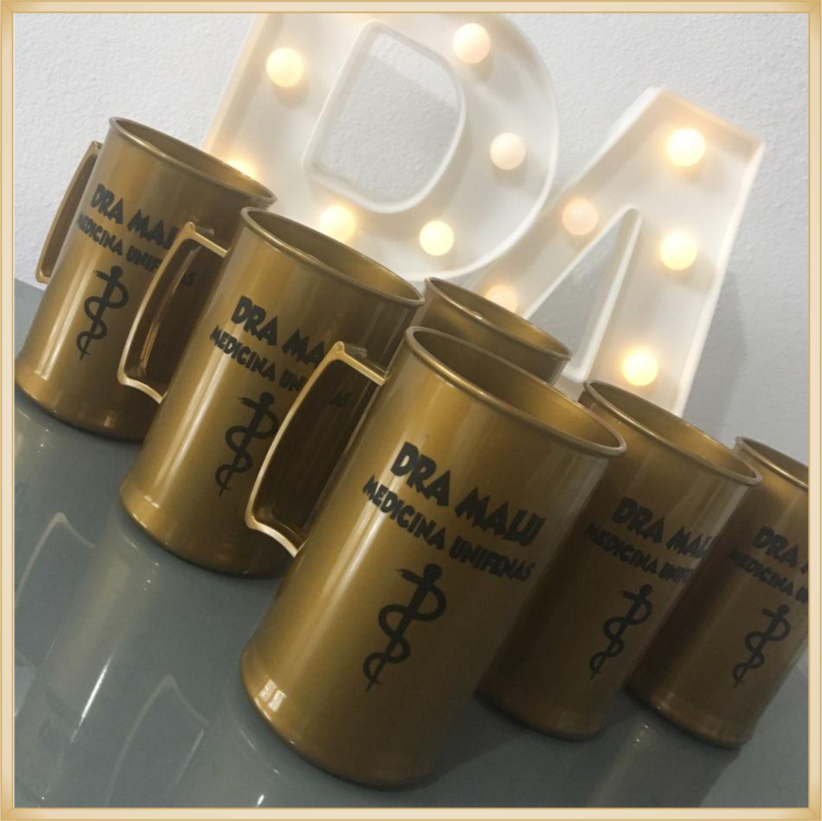 Canecas Acrílico Personalizadas para Festas de Formatura coquetel de formandos - Kit com 50 unidades