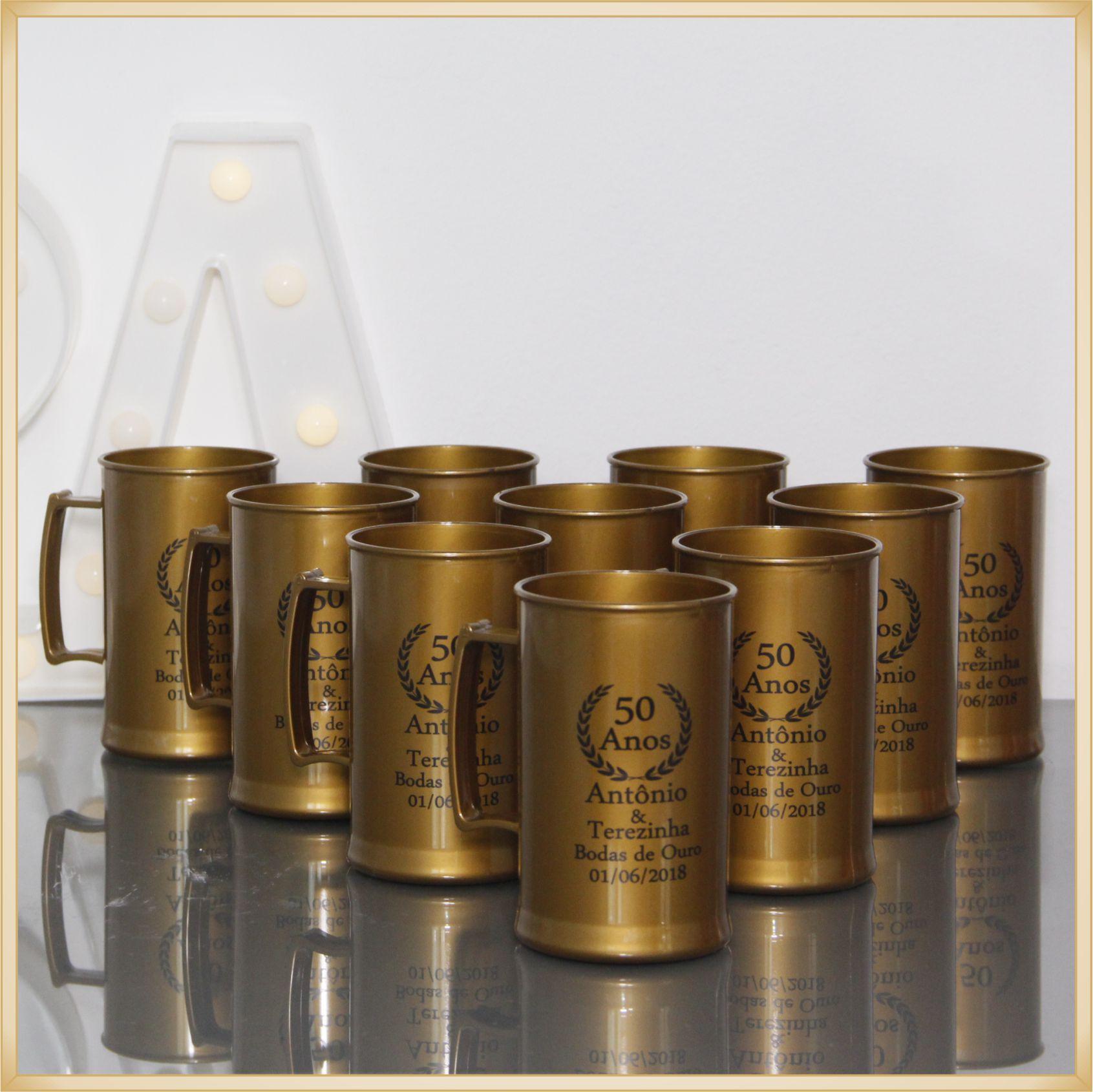 Canecas de acrílico personalizadas aniversário - alta qualidade, acabamento perfeito, parede de 2,5 mm, material atóxico, 300 ml - kit 100 unidades