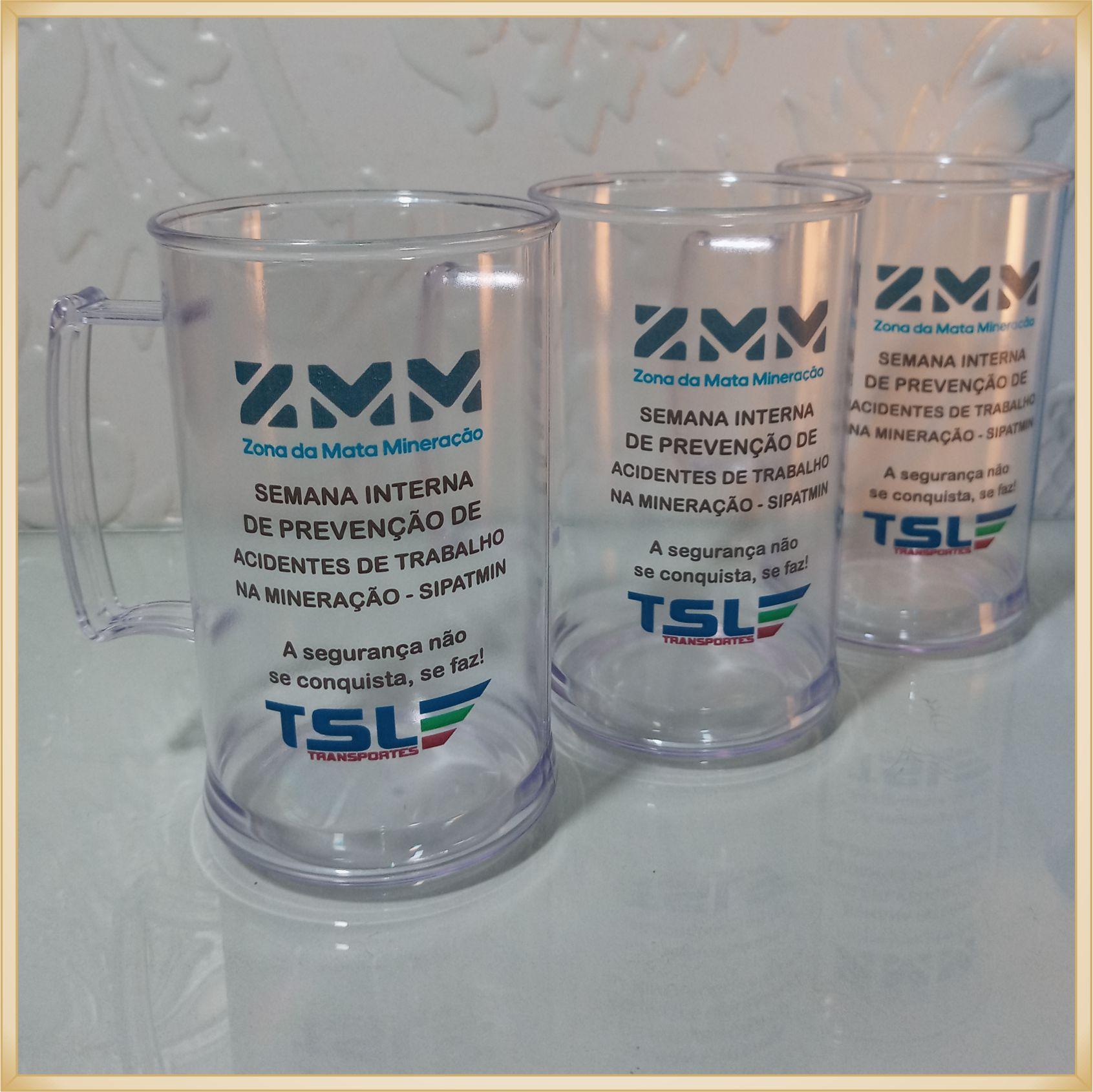 Canecas de acrílico personalizadas para empresas - alta qualidade, acabamento perfeito, parede de 2,5 mm, material atóxico, 300 ml - kit 30 unidades