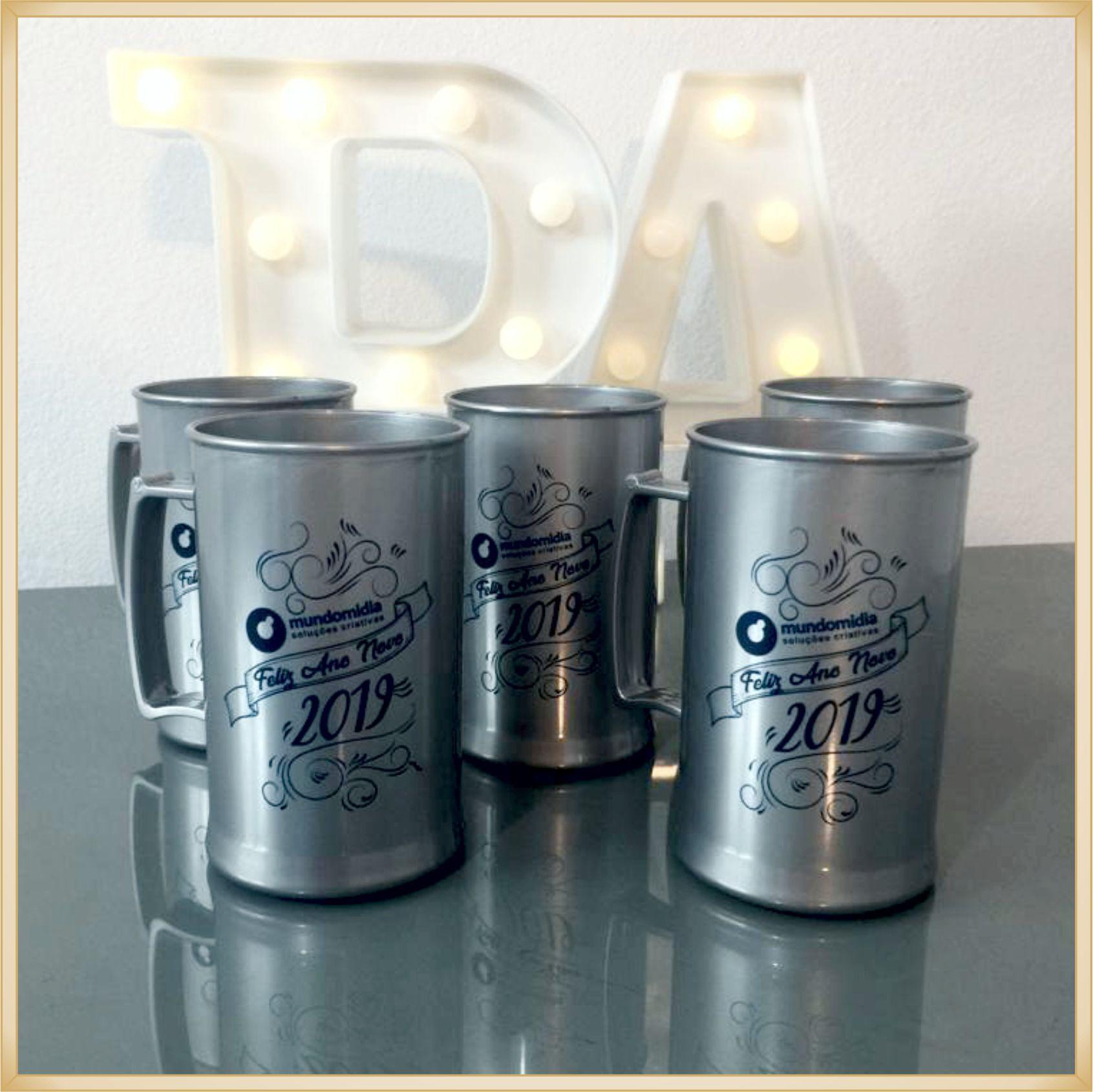 Canecas de acrílico personalizadas para empresas - alta qualidade, acabamento perfeito, parede de 2,5 mm, material atóxico, 300 ml - kit 100 unidades