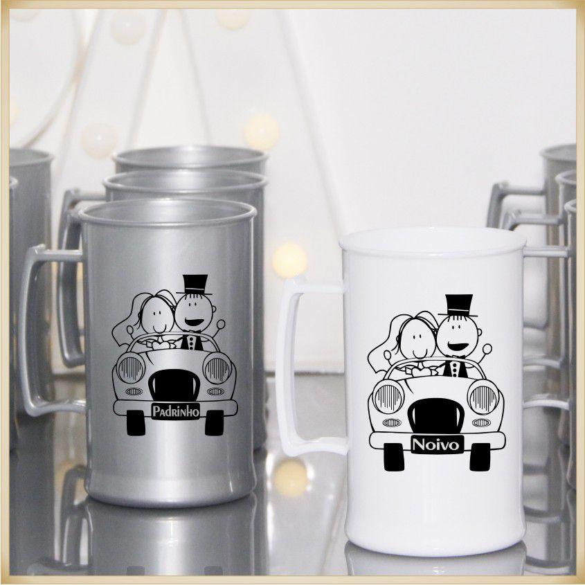 Canecas de casamento Lembrancinhas para Noivo e Padrinhos - Kit com 11 unidades