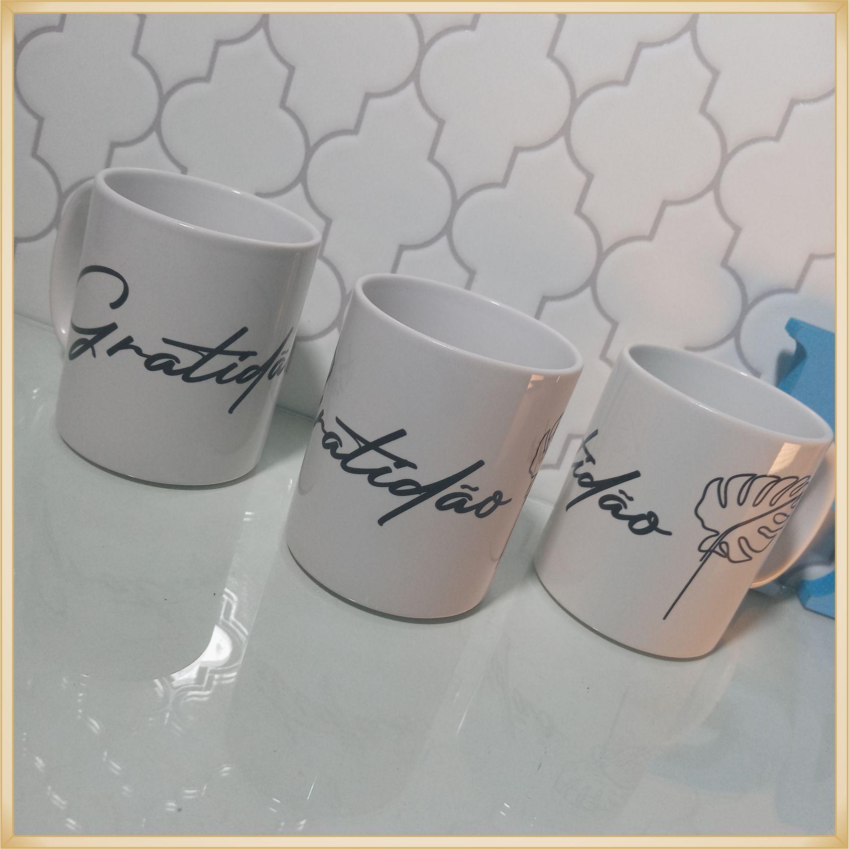 Canecas de porcelana personalizadas empresas clientes - alta qualidade, cores vivas, acabamento perfeito, alças confortáveis, 325 ml. - kit 10 unid.