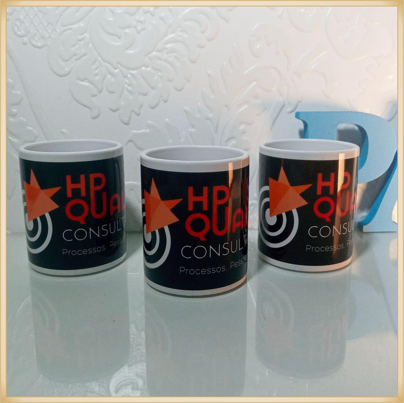 Canecas de porcelana personalizadas - estampa de alta qualidade, cores vivas, acabamento perfeito, alças confortáveis, 325 ml. - kit com 15 unidades