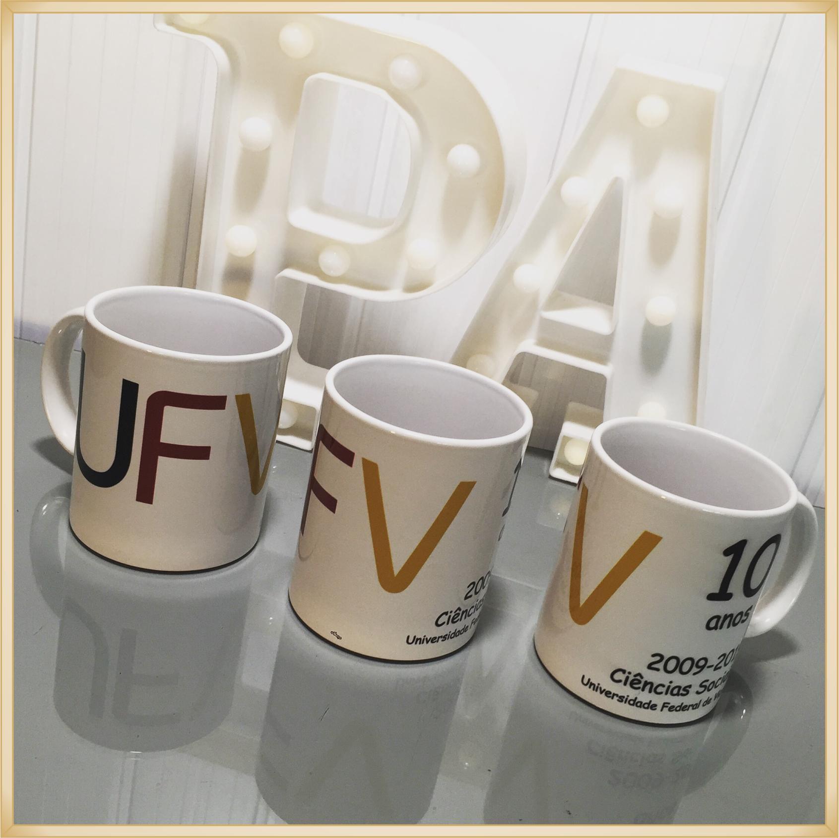 Canecas de porcelana personalizadas - estampa de alta qualidade, cores vivas, acabamento perfeito, alças confortáveis, 325 ml. - kit com 10 unidades