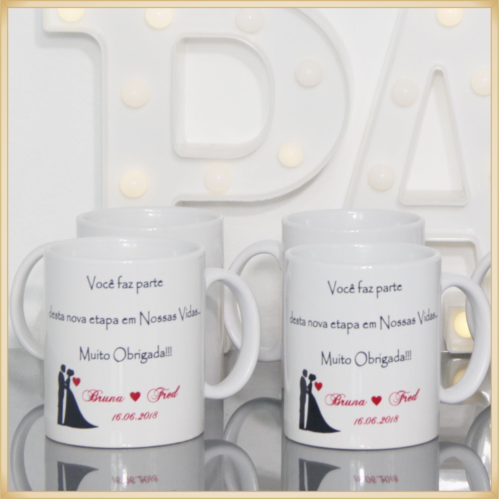 Canecas de porcelana personalizadas - estampa de alta qualidade, cores vivas, acabamento perfeito, alças confortáveis, 325 ml. - kit com 20 unidades