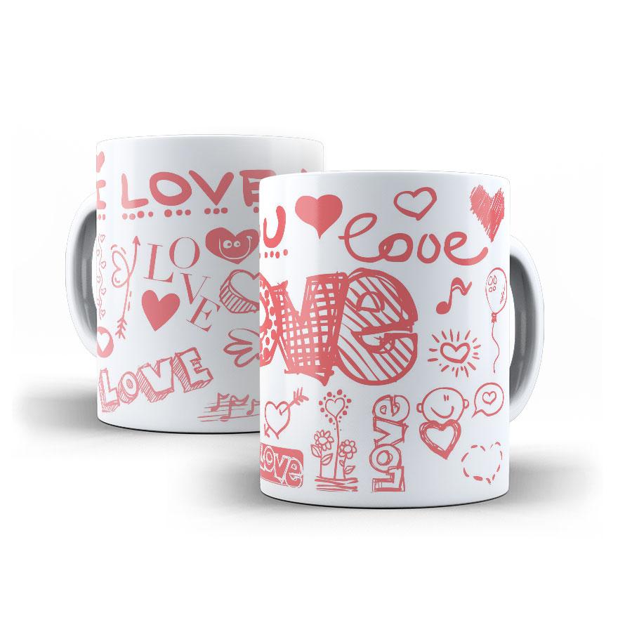 Canecas Personalizadas dia dos namorados  - LOVE - KIT COM 2 UNIDADES