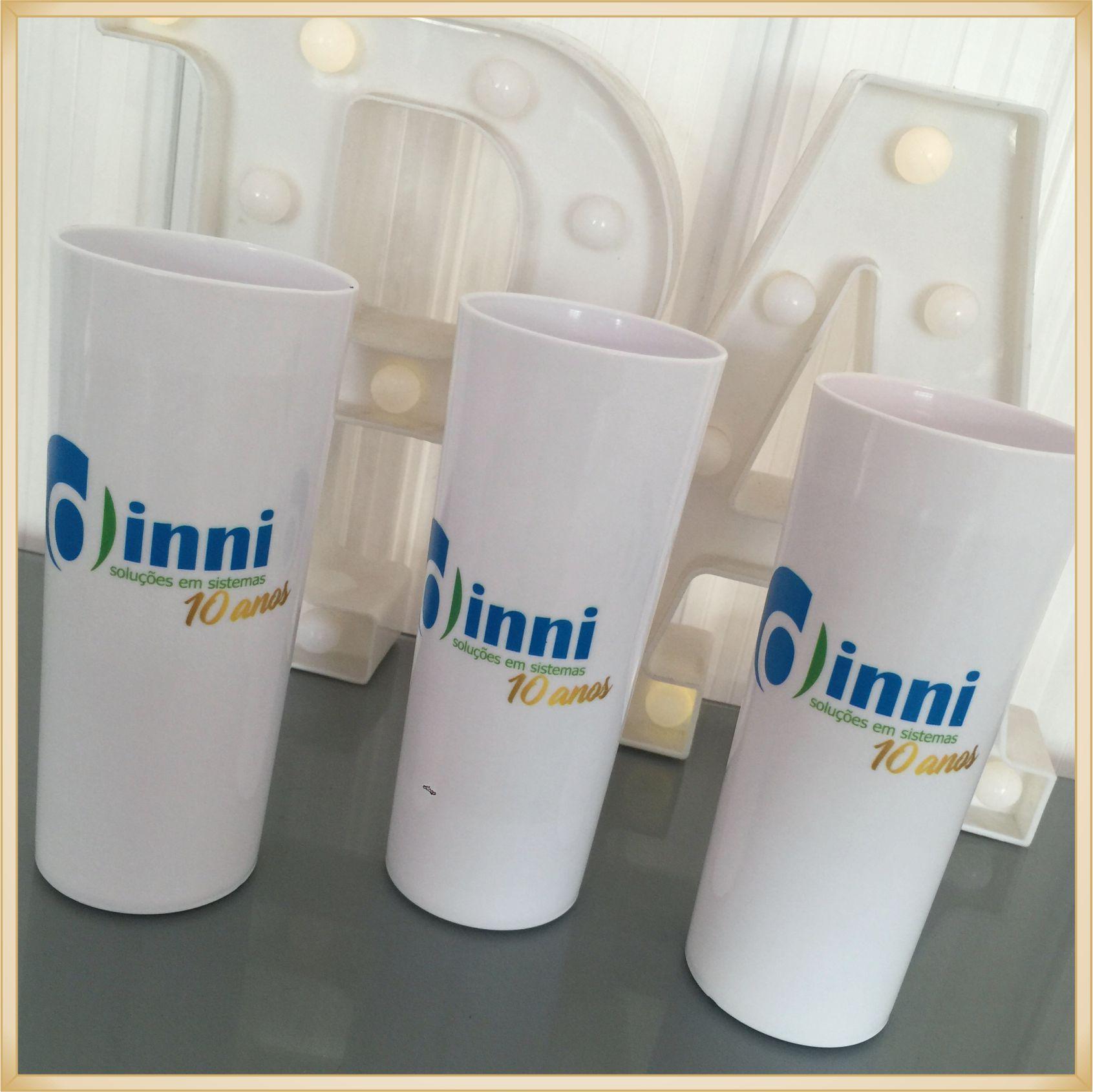 Copo long Drink Personalizado empresas - estampas de qualidade, brilhante, ótimo acabamento, parede de 2,5 mm, resistente, 325 ml.