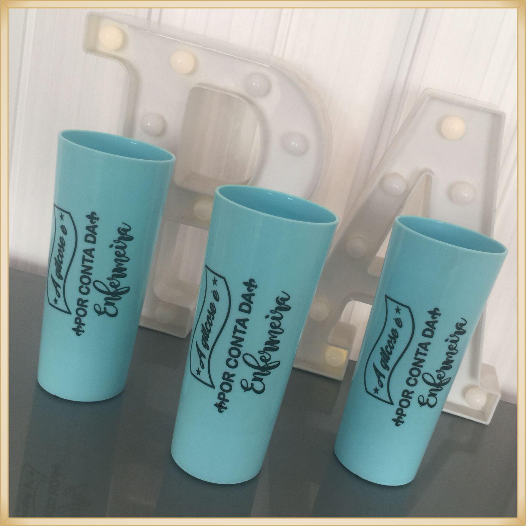 Copo long Drink Personalizado para Formatura - estampas de qualidade, brilhante, ótimo acabamento, parede de 2,5 mm, resistente, 325 ml.