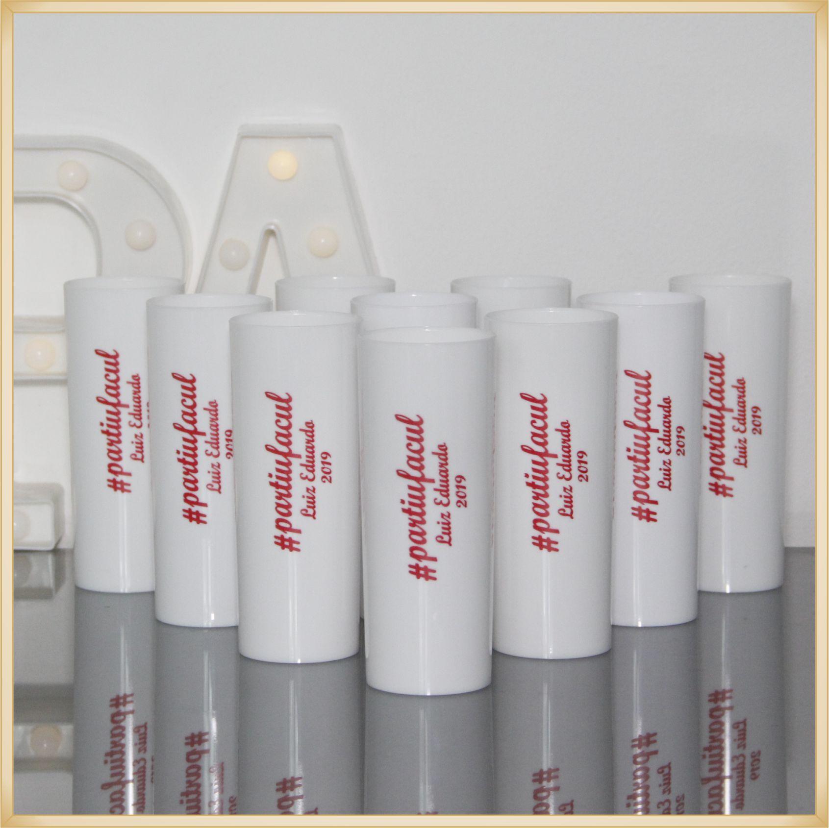 Copos Long Drink de acrílico Personalizados para Festas de formatura e cursos - Kit com 30 unidades