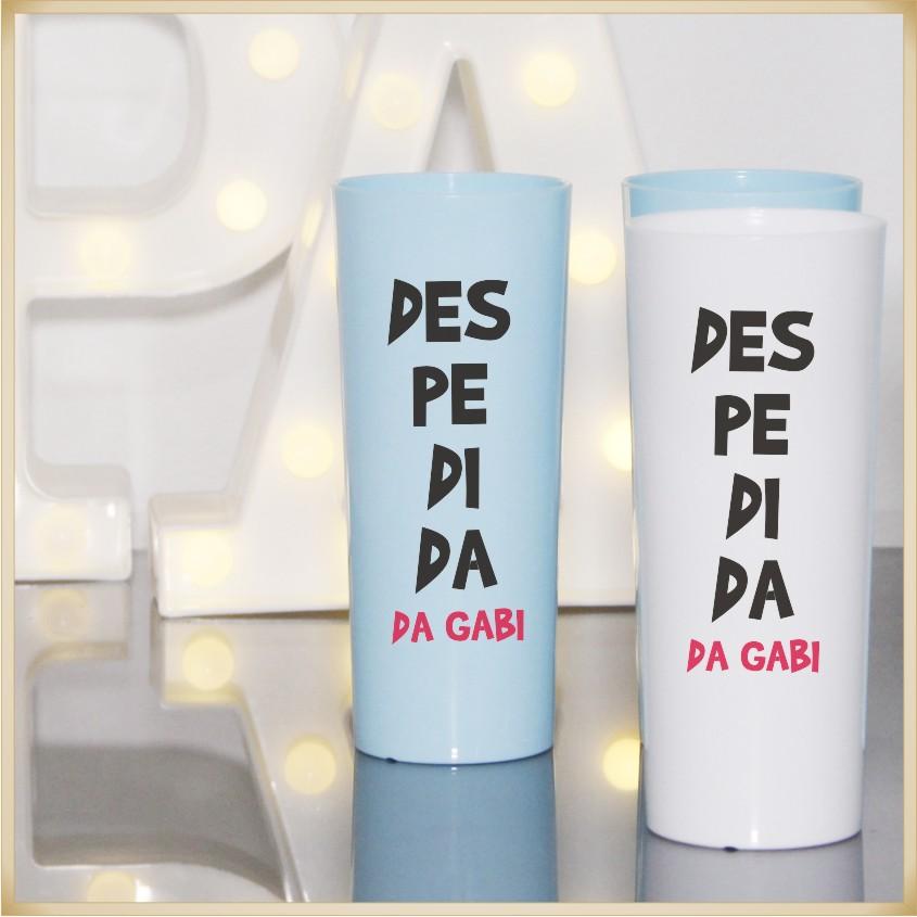 Copos long Drink Personalizados Despedida Solteiro - estampas qualidade, brilhante, ótimo acabamento, parede de 2,5mm, resistente, 325ml. kit 30 unid.