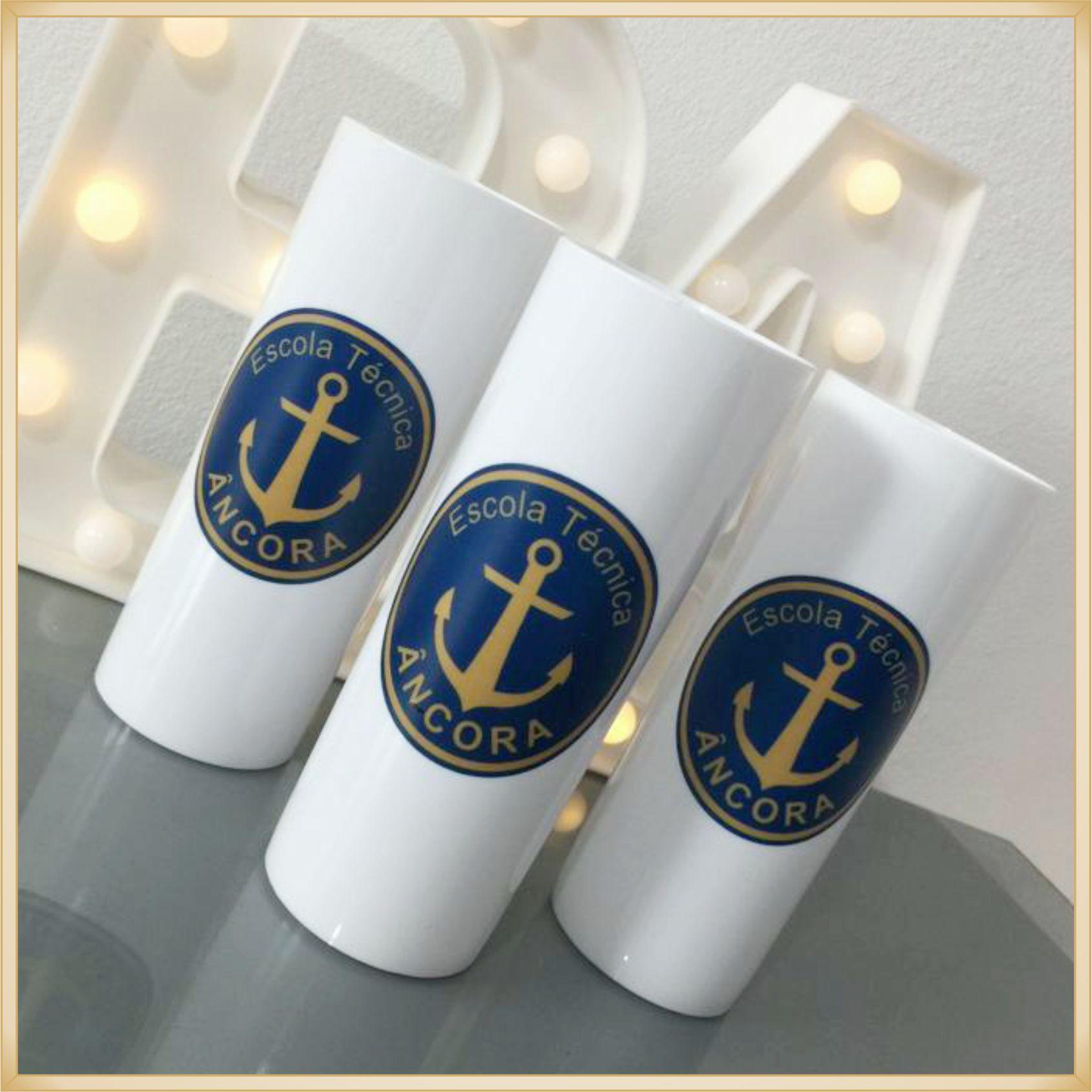 Copos long Drink Personalizados empresas - estampas de qualidade, brilhante, ótimo acabamento, parede de 2,5 mm, resistente, 325 ml.  kit 30 unidades
