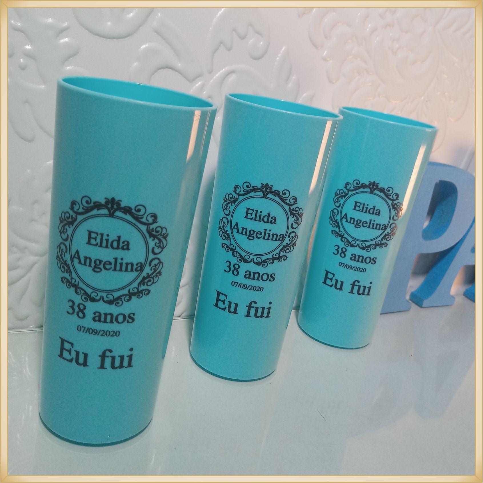 Copos long Drink Personalizados - estampas de qualidade, brilhante, ótimo acabamento, parede de 2,5 mm, resistente, 325 ml. - kit 100 unidades