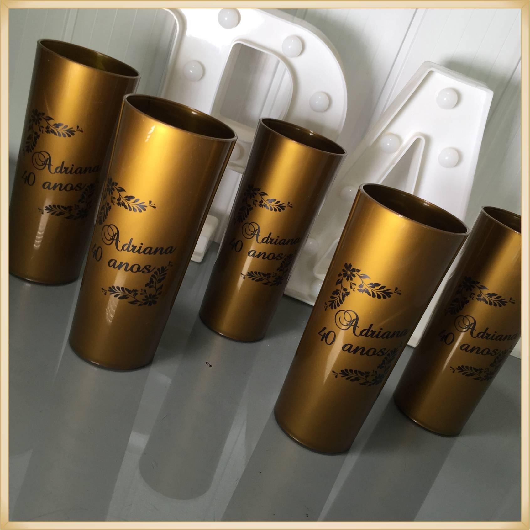 Copos long Drink Personalizados - estampas de qualidade, brilhante, ótimo acabamento, parede de 2,5 mm, resistente, 325 ml. - kit 50 unidades