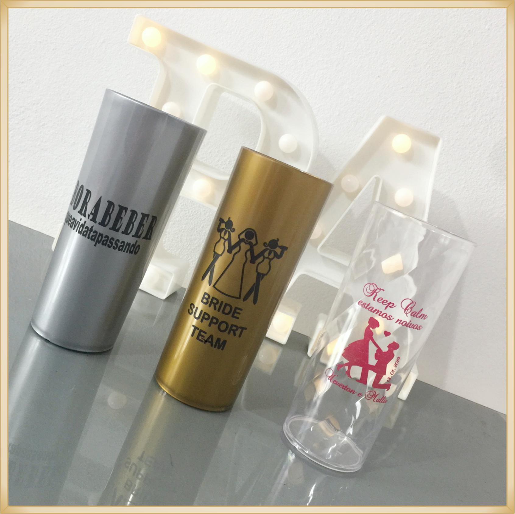 Copos long Drink Personalizados - estampas de qualidade, brilhante, ótimo acabamento, parede de 2,5 mm, resistente, 325 ml. - kit 30 unidades
