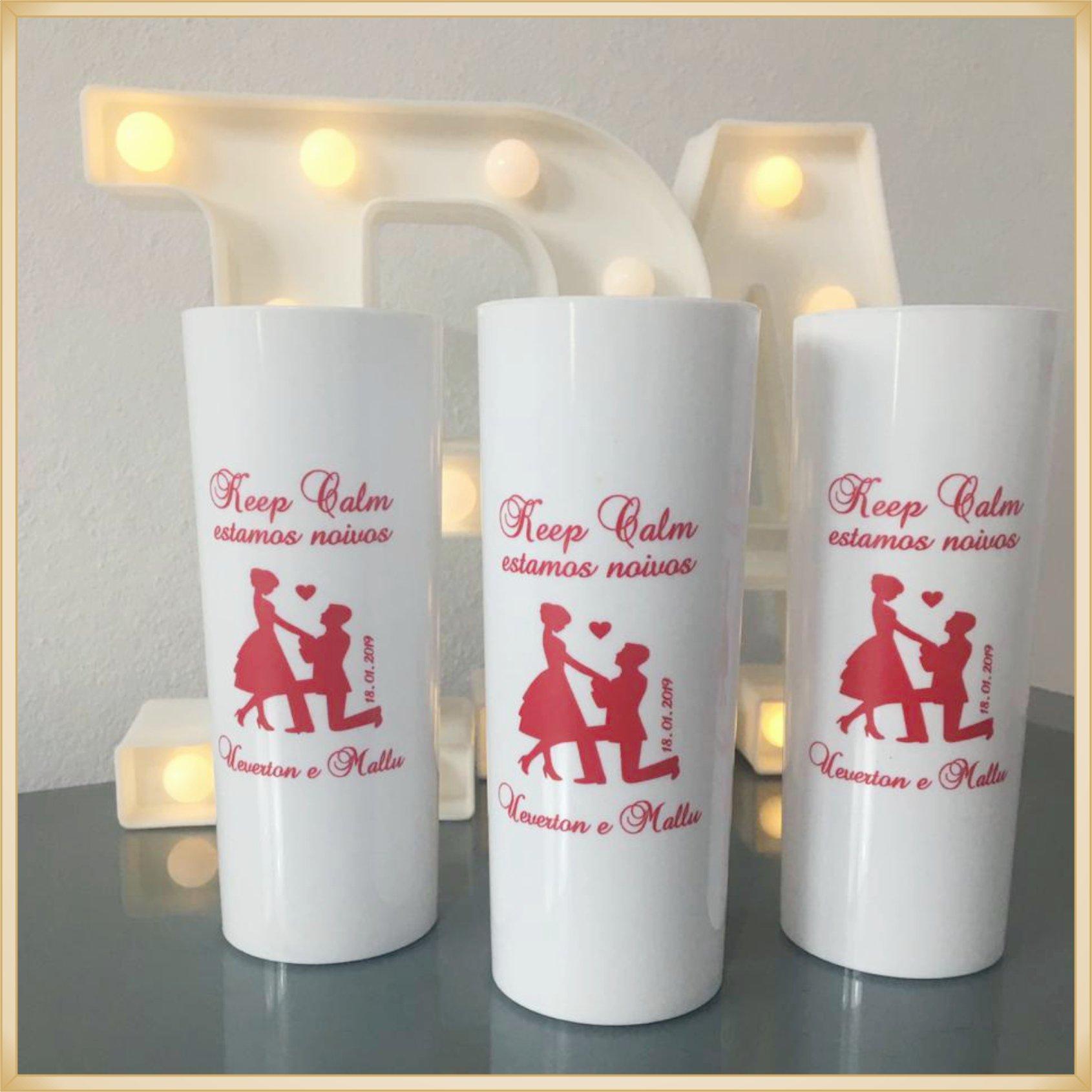 Copos long Drink Personalizados para casamento - estampas de qualidade, brilhante, ótimo acabamento, parede de 2,5mm, resistente, 325ml. kit 100 unid.