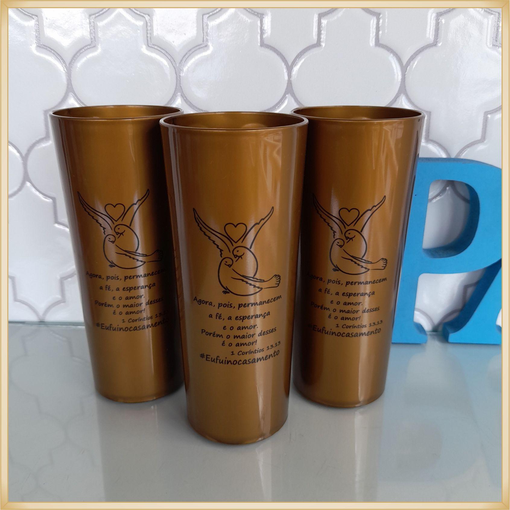 Copos long Drink Personalizados para casamento - estampas de qualidade, brilhante, ótimo acabamento, parede de 2,5mm, resistente, 325ml. kit 30 unid.