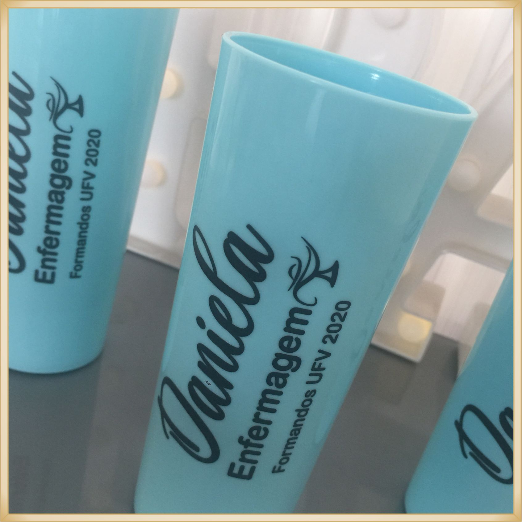 Copos long Drink Personalizados para Formatura - estampa qualidade, brilhante, ótimo acabamento, parede 2,5 mm, resistente, 325 ml. kit 50 unidades