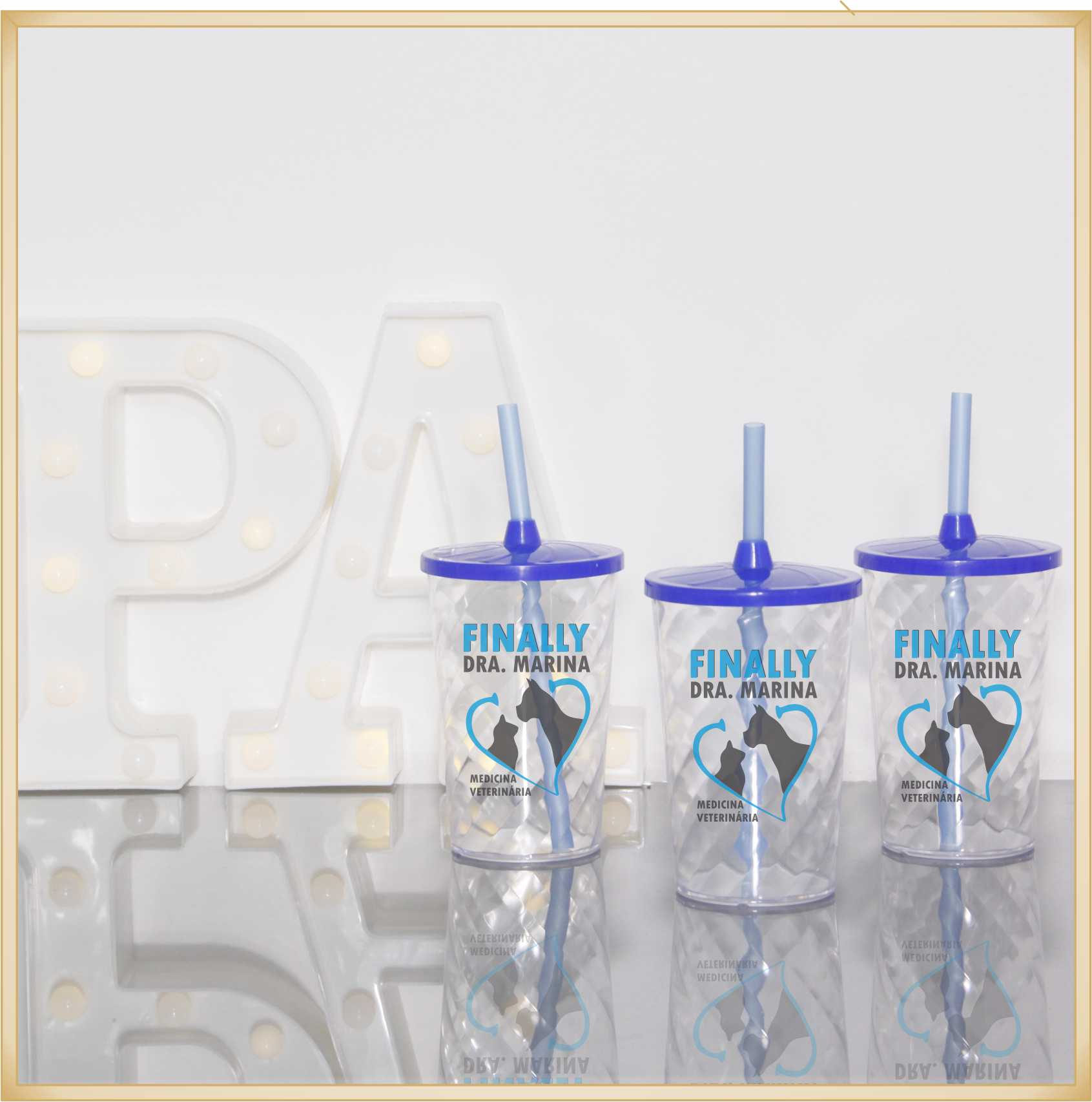 Copos para formatura personalizado para brinde de formandos lembrancinhas coquetel de cursos - Kit com 30 unidades
