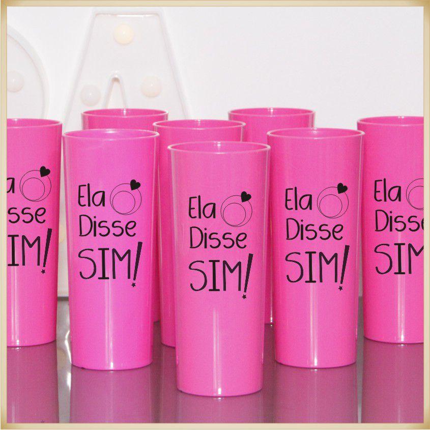 Copos para lembrancinhas de casamento brindes para Madrinhas - Kit com 10 unidades