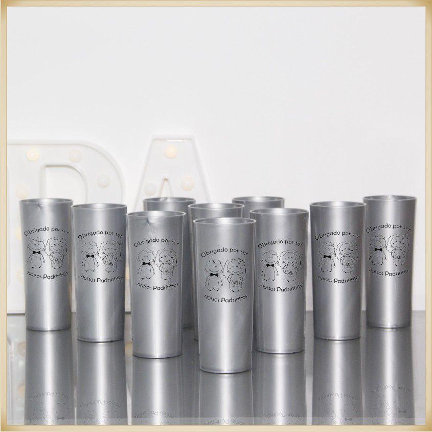 Copos para lembrancinhas de casamento brindes para padrinhos e madrinhas - Kit com 10 unidades