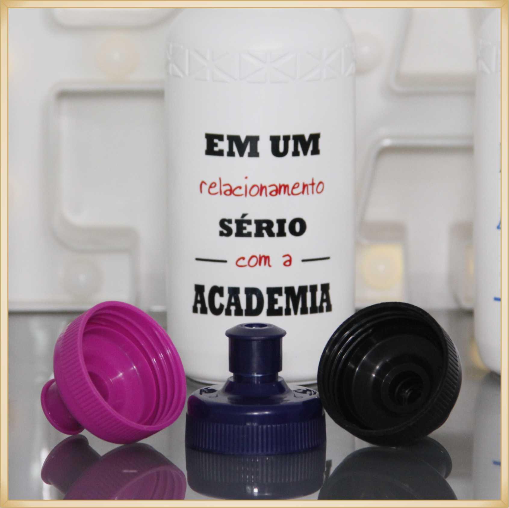 30 Garrafas Squeeze personalizada para academia brinde empresarial