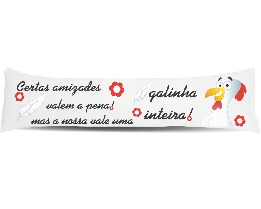 Kit Amigos Amizade - Almofada de Metro + Chinelo + Caneca Porcelana
