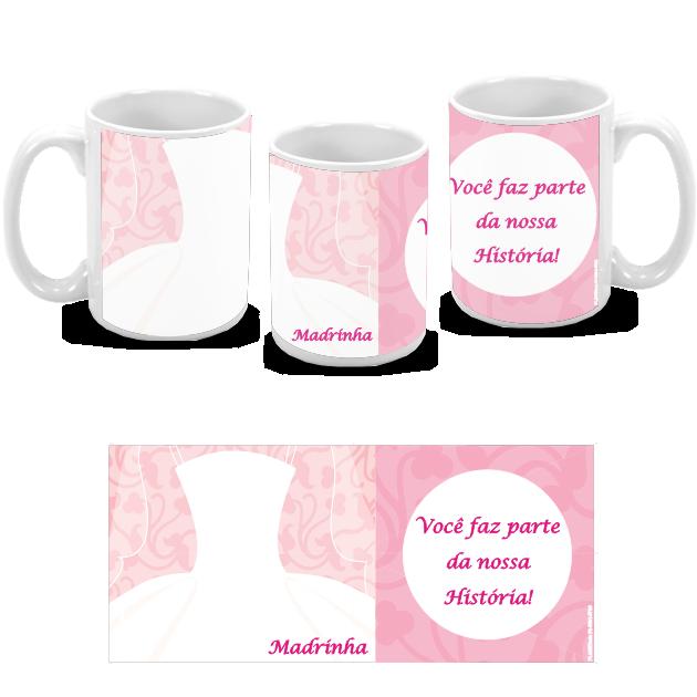 10 Canecas personalizadas de porcelana para padrinhos e madrinhas de casamento
