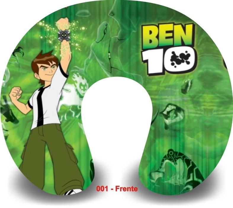 Kit com 10 Almofadas de Pescoço Lembrancinha Personalizada Ben 10