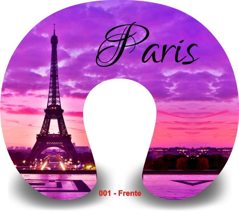 Kit com 10 Almofadas de Pescoço Lembrancinha Personalizada Paris