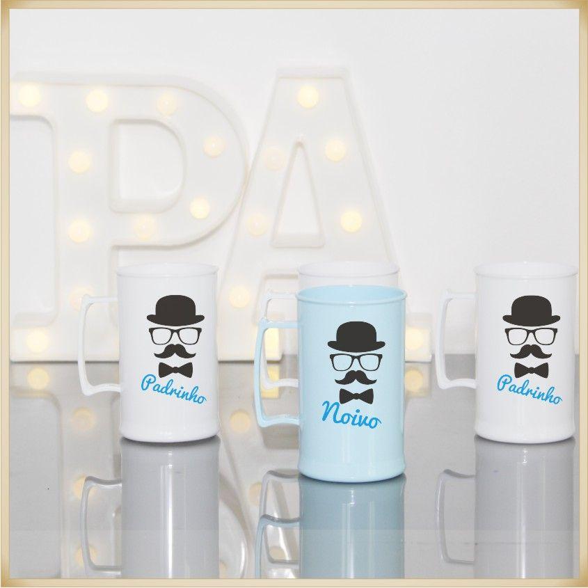Canecas de Acrílico Personalizadas para Festas de casamento e madrinhas - Kit com 30 unidades