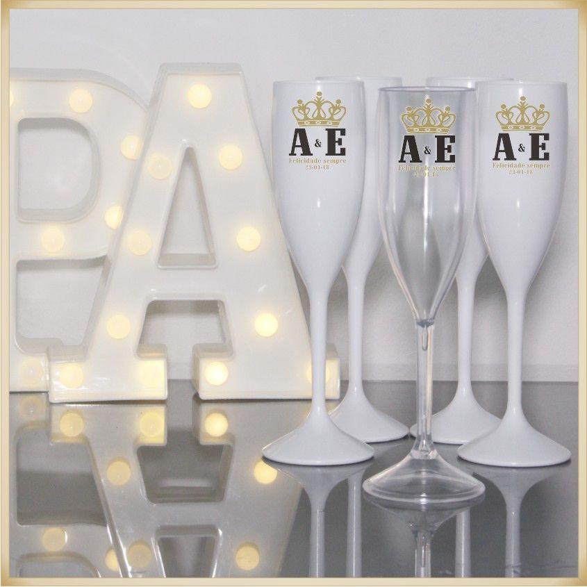 Taças de Acrílico Personalizada para festa Casamento noivas e madrinhas - Kit com 30 unidades