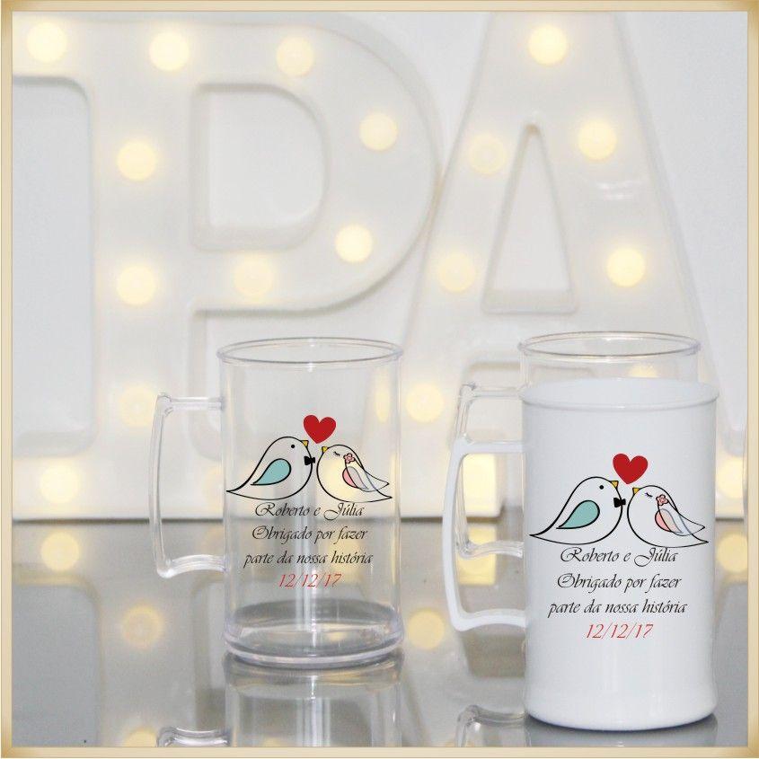 Canecas acrílico Personalizadas para Festas de Casamento e Padrinhos